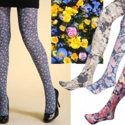 Çiçek desenli külotlu çoraplar