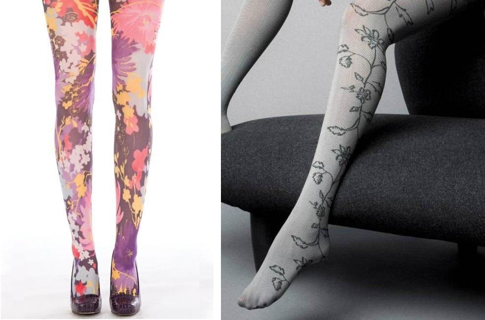 Çiçek motifli çorap modelleri