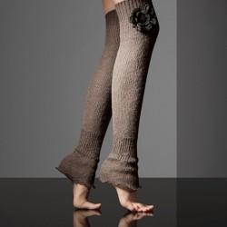 Diz Üstü Çiçek Motifli Çorap