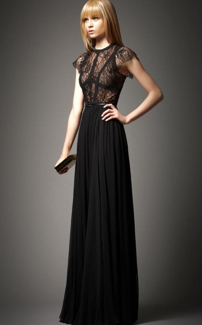 Elie Saab 2014 Düz Mezuniyet Kıyafeti