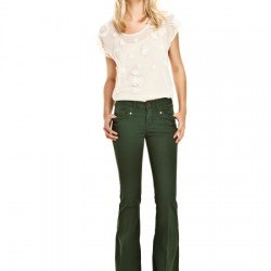 İspanyol Paça Yeşil Pantolon Modelleri