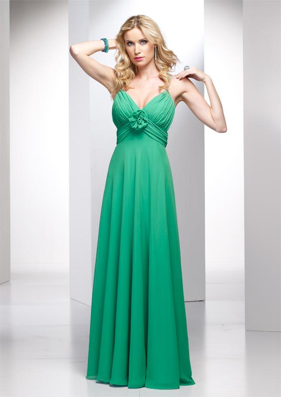 Şifon Spagetti Askılı Abiye Elbise Modası