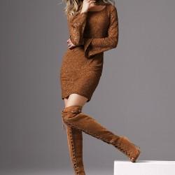 Bağcıklı Dizüstü Çizme Modelleri