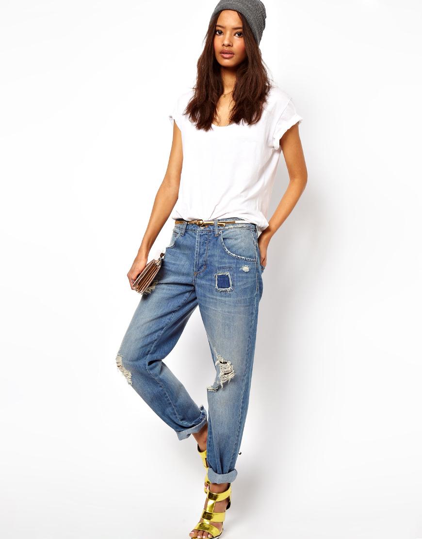 Sonbahar Yamalı Jean (Kot) Pantolon Kombinleri