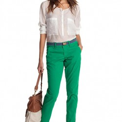 Bluz ve Yeşil Pantolon Modelleri