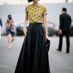 Bol Siyah Uzun Etek Modelleri