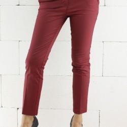 Bordo Kısa Paçalı Pantolon Modelleri