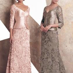 Dantel Orta Yaş Elbise Modelleri