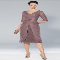 Dantelli Orta Yaş Elbise Modelleri