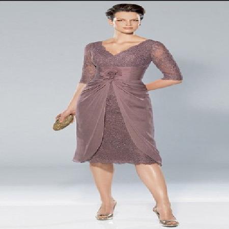 orta yaş dantelli elbise modelleri