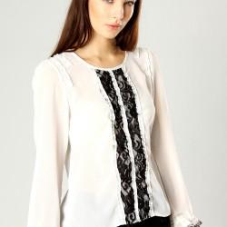 Deri Şort İle Beyaz Dantelli Bluz Modelleri