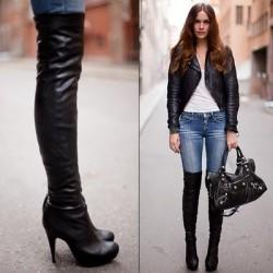 Deri Dizüstü Çizme Modelleri