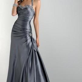 Drapeli Gri Abiye Elbise Modelleri