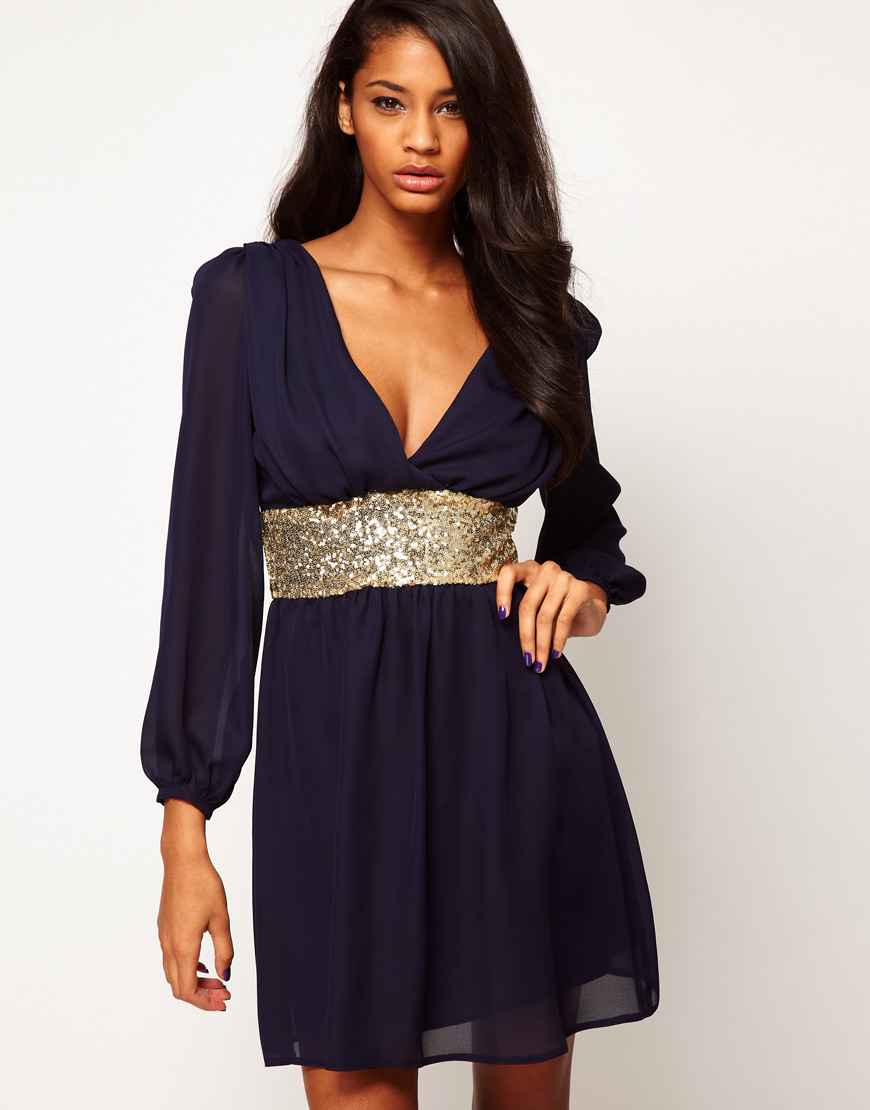 Платье Синее С Золотом Доставка