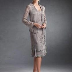 Gri Orta Yaş Elbise Modelleri