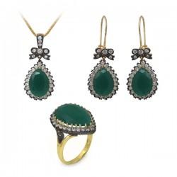 Hürrem Sultan Zümrüt Yeşili Takı Modelleri