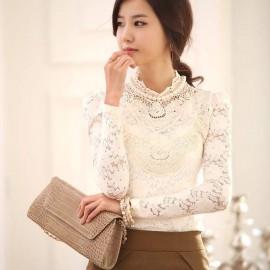Japon Tarzı Beyaz Dantelli Bluz Modelleri