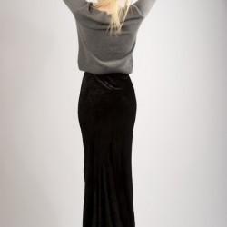 Kadife Siyah Uzun Etek Modelleri
