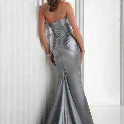 Kuyruklu Gri Abiye Elbise Modelleri