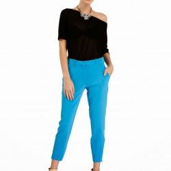 Mavi Kısa Paçalı Pantolon Modelleri