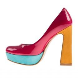 Renkli Kalın Topuklu Ayakkabı Modelleri