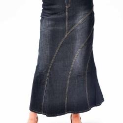 Siyah Uzun Kot Etek Modelleri