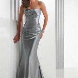 z Gri Abiye Elbise Modelleri