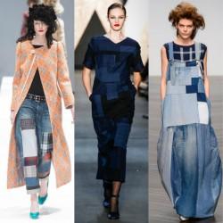 Trend Patchwork Jean Pantolon Modelleri