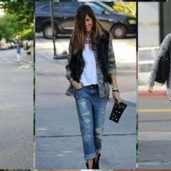 Trend Yamalı Kot Pantolon Kombinleri