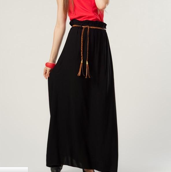 Pileli Siyah Uzun Etek Modelleri