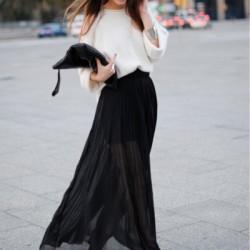 Yazlık Siyah Uzun Etek Modelleri