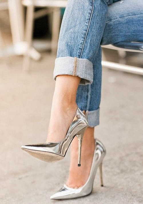 Yeni Metalik Ayakkabı Modelleri
