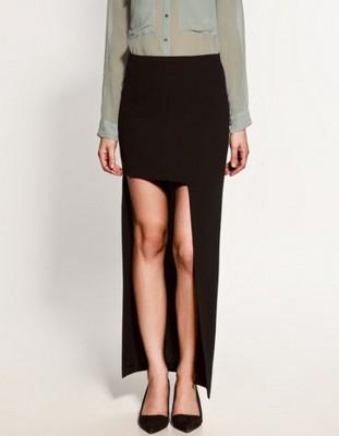 Zara Siyah Uzun Etek Modelleri