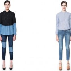 Zara Yamalı Kot Pantolon Kombinleri