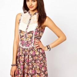 Çiçekli Günlük Elbise Modelleri