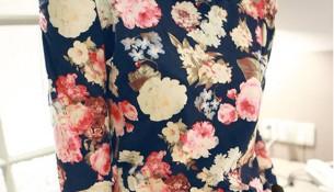 Çiçekli Vintage Tişört Modelleri