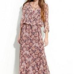 Şifon Uzun Elbise Modası
