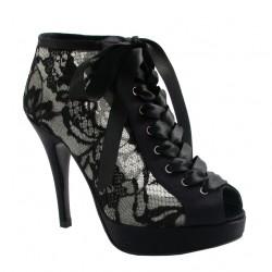 Bağcıklı Topuklu Yeni Dantelli Ayakkabı Modelleri