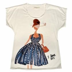 Bayan Vintage Tişört Modelleri