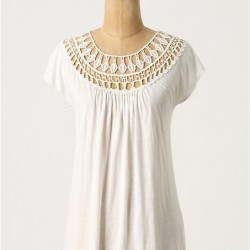 Beyaz Vintage Tişört Modelleri