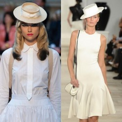 Beyaz Yeni Hasır Şapka Modası