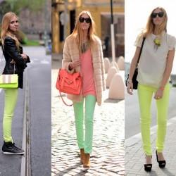 En Yeni 2014 Neon Pantolon Modelleri