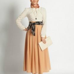 Etek Bluz Yeni Yazlık Tesettür Giyim Modelleri