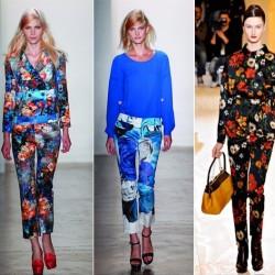 Kısa Yeni Çiçekli Pantolon Modelleri