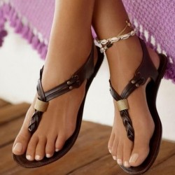 Kahverengi Sandalet Modelleri