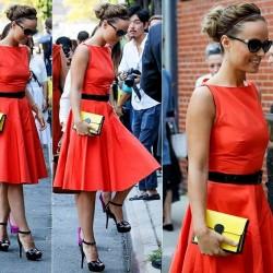 Kemerli Kloş Elbise Modelleri