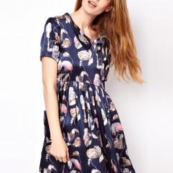 Lacivert Günlük Elbise Modelleri