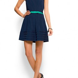 Lacivert Kloş Elbise Modelleri