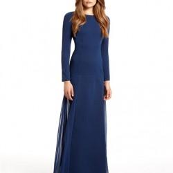 Lacivert Uzun Elbise Modası