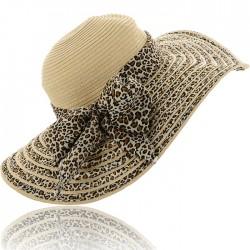 Leopar Detaylı Yeni Hasır Şapka Modası